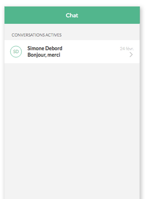 Helpling App chatfunction