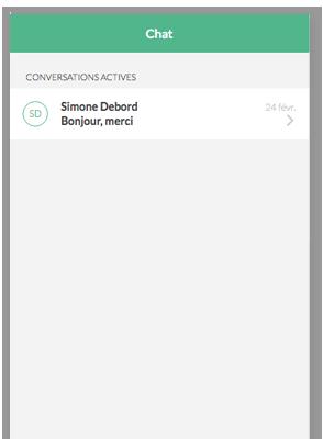 Helpling App chatfunctie