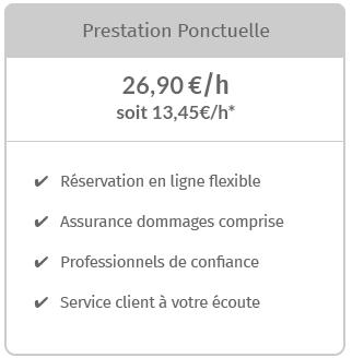 Prestation ménagère unique à Paris
